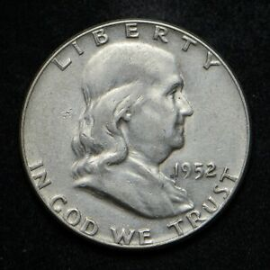 1952 FRANKLIN SILVER HALF DOLLAR AU  BB4815