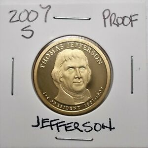 2007 S PROOF PRESIDENTIAL DOLLAR COIN T. JEFFERSON