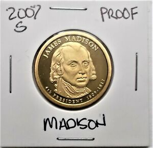 2007 S PROOF PRESIDENTIAL DOLLAR COIN J. MADISON