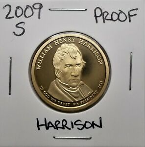 2009 S PROOF PRESIDENTIAL DOLLAR COIN W.H. HARRISON