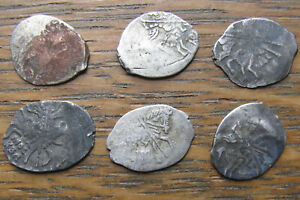 Click now to see the BUY IT NOW Price! SIX PIECES OF RUSSIAN WIRE MONEY   MICHAEL I  1613 1645