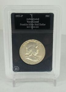 1951 P FRANKLIN SILVER HALF DOLLAR AUTHENTICATED GOOD