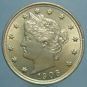 Click now to see the BUY IT NOW Price! 1906 LIBERTY NICKEL   UNCIRCULATED DETAILS BUT OBVERSE SCRATCH