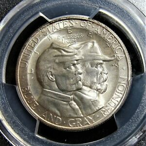 1936 BATTLE OF GETTYSBURG 75TH ANNIVERSARY HALF DOLLAR PCGS MS 66 CAC.