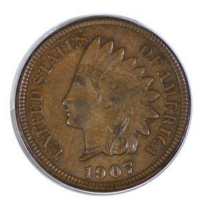 1907 INDIAN HEAD CENT EXTRA FINE