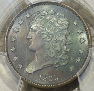 Click now to see the BUY IT NOW Price! 1835 US PROOF HALF CENT COIN PCGS PR64BN ONLY 12 TO 18 KNOWN  HALF PENNY