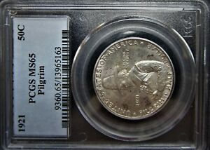1921 PILGRIM COMMEMORATIVE PCGS MS65