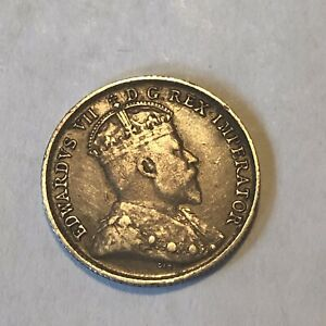 1904 CANADA 5 CENT CIRCULATED SILVER