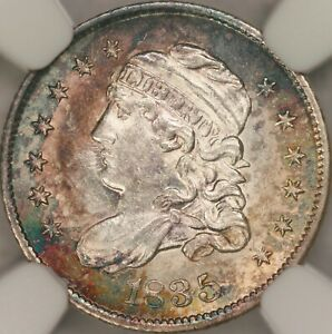 Click now to see the BUY IT NOW Price! 1835 CAPPED BUST HALF DIME NGC MS66
