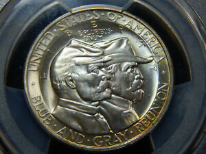 1936 50C GETTYSBURG COMMEMORATIVE HALF DOLLAR MS 66  PCGS/CAC GORGEOUS