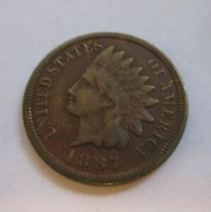 1887 INDIAN CENT WITH FULL LIBERTY