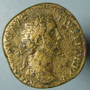 Click now to see the BUY IT NOW Price! ANTONINUS PIUS AE SESTERTIUS   VF DETAILS   FORTUNA STANDING