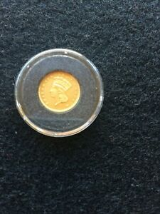 1877 $1 GOLD INDIAN PRINCESS ONE DOLLAR  NICE COIN   VERY   3 920 MINTED