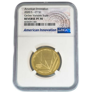2020 CONNECTICUT INNOVATION DOLLAR REVERSE PROOF NGC 70