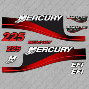 Mercury 225 Four 4 Stroke Decal Kit Outboard Engine Graphic Motor Merc PINK