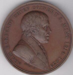 1839 ADAM ECKFELDT RETIREMENT MEDAL MT 18 CHIEF COINER U.S. MINT