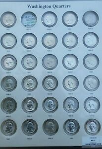 Click now to see the BUY IT NOW Price! BOOK OF WASHINGTON QUARTERS 1932 1964 IN CAPS SET ALBUM PROOFS 119 SILVER COINS