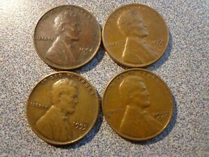 LOT US COINS LINCOLN PENNIES 1954 1957