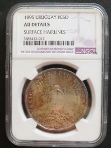 Click now to see the BUY IT NOW Price! 1895 URUGUAY PESO   NGC AU DETAILS  NICE SILVER COIN  414 20 2.