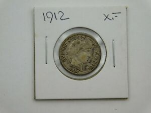 1912 UNITED STATES BARBER DIME XF