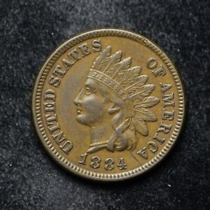 1884 INDIAN HEAD CENT XF   BB5116