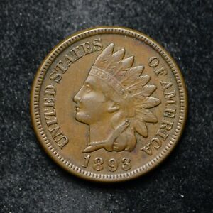 1893 INDIAN HEAD CENT VF   BB5122