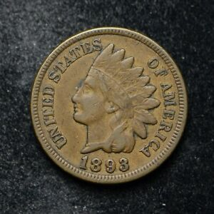 1893 INDIAN HEAD CENT VF  BB5125