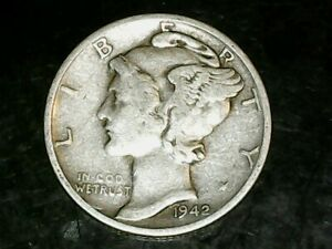 1942 S MERCURY DIME 10C   NICE OLD COIN   90  SILVER US DIME