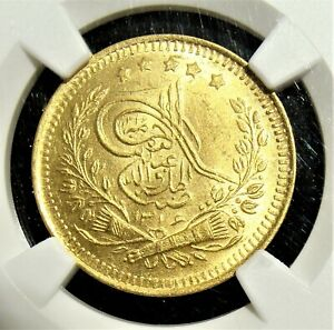 Click now to see the BUY IT NOW Price! AFGHANISTAN: AH 1316  1898  GOLD TILLA KM 822 NGC MS 64.
