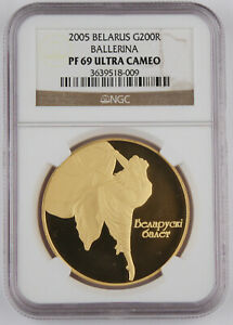 Click now to see the BUY IT NOW Price! BELARUS/BELORUSSIA 2005 1 OZ GOLD PROOF BALLET COIN 200 ROUBLE NGC PF69 UC GEM