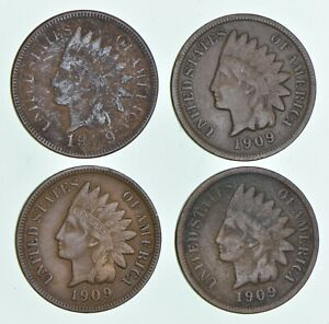 LOT  4  1909 S INDIAN HEAD CENTS  5139