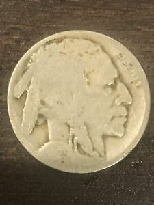 1925 D BUFFALO NICKEL VG RAW US COIN   FIVE CENTS 5C