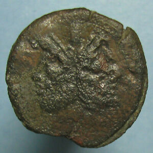 Click now to see the BUY IT NOW Price! ROMAN REPUBLIC AE AS   HEAD OF JANUS AND PROW   SECOND CENTURY BC