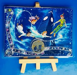 IOM PETER PAN WENDY AND NANA 50P COIN COLOUR DISPLAY CARD EASEL 6