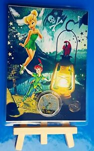 IOM PETER PAN TINKERBELL 50P COIN COLOUR DISPLAY CARD EASEL 5