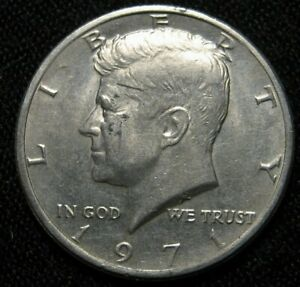 1971 KENNEDY HALF DOLLAR WITH DOUBLING ON THE REVERSE  F