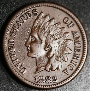 1882 INDIAN HEAD CENT   WITH LIBERTY   NEAR XF EF