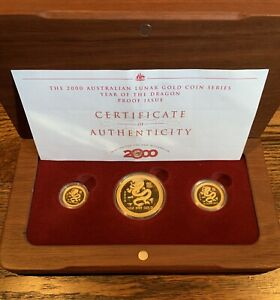 Click now to see the BUY IT NOW Price! 2000 AUSTRALIA LUNAR GOLD PROOF SET YEAR OF THE DRAGONNGC PF70LY
