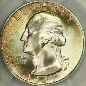 Click now to see the BUY IT NOW Price! 1947 S WASHINGTON QUARTER PCGS MS68 CAC   TOP POP