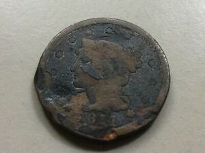 1844 BRAIDED HAIR LIBERTY LARGE CENT