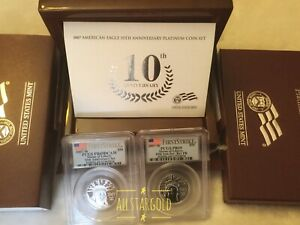 Click now to see the BUY IT NOW Price! 2007 W $50 10TH ANNIVERSARY PLATINUM 2COIN SET PCGS PR69 REV69 &REVERSE FS