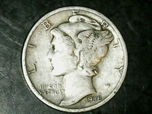 1936 S MERCURY DIME 10C   NICE OLD COIN   90  SILVER US DIME