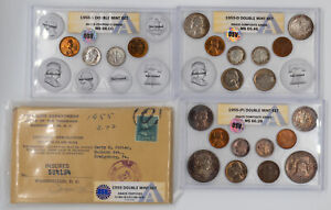Click now to see the BUY IT NOW Price! 1955 P/D/S DOUBLE MINT SET OSV ANACS MS 65 66 MINT GEM BU    UNC WITH BUGS BUNNY