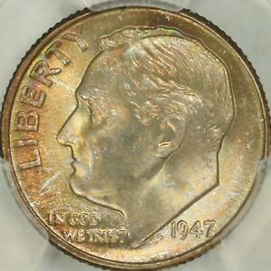 Click now to see the BUY IT NOW Price! 1947 D ROOSEVELT DIME PCGS MS68FB   TOP POP  3/0