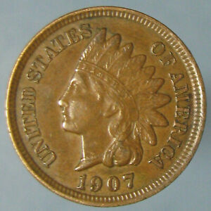 Click now to see the BUY IT NOW Price! SHARP BROWN AU 1907 INDIAN HEAD CENT WITH FOUR FULL DIAMONDS