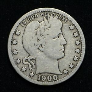 1900 S BARBER SILVER QUARTER  BB5703