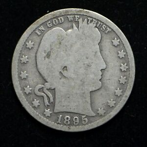 1895 O BARBER SILVER QUARTER  BB5698