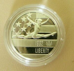 1992 S GYMNASTICS COMMEMORATIVE PROOF HALF DOLLAR