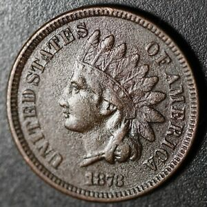 1873 INDIAN HEAD CENT   WITH LIBERTY   NEAR VF FINE DETAILS   CLOSED 3