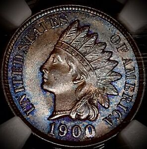 1900 INDIAN HEAD PENNY NGC MS65